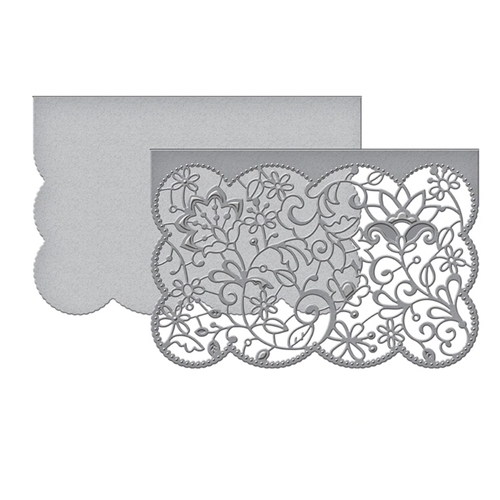 S5-402 Spellbinders CANDLEWICK LACE CARD FRONT Etched Dies  Preview Image