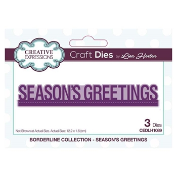 Creative Expressions SEASON'S GREETINGS Borderline Collection Dies cedlh1089