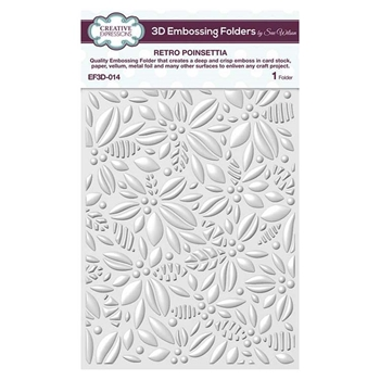 Creative Expressions RETRO POINSETTIA 3D Embossing Folder by Sue Wilson ef3d014