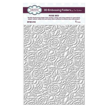 Creative Expressions ROSE BED 3D Embossing Folder by Sue Wilson ef3d018