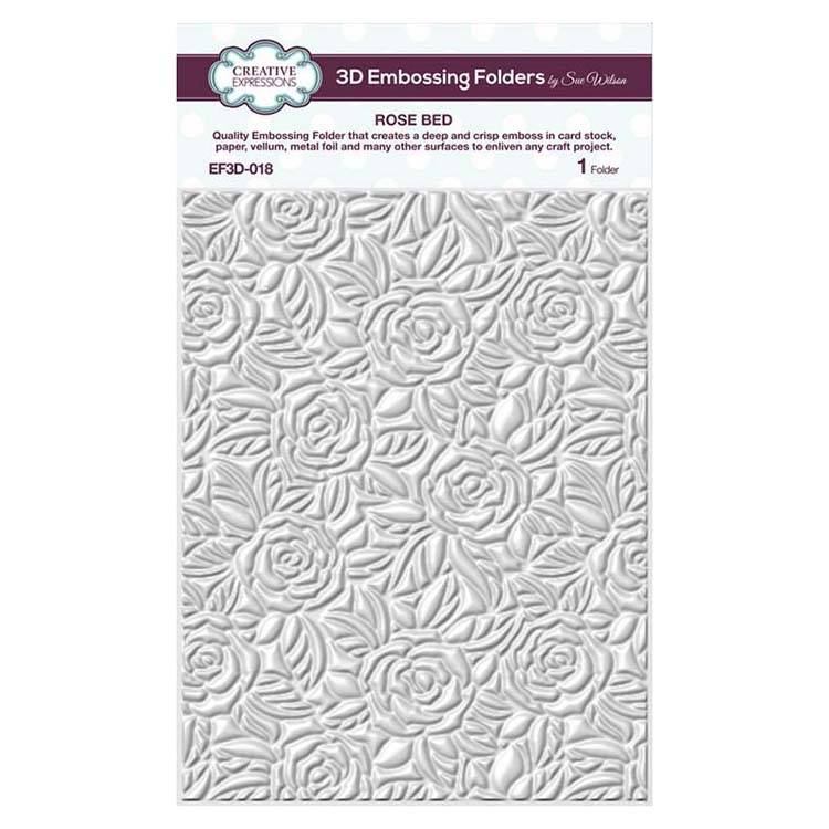 Creative Expressions ROSE BED 3D Embossing Folder by Sue Wilson ef3d018 zoom image