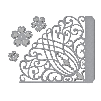 S4-1022 Spellbinders CANDLEWICK GRAND POCKET Etched Dies