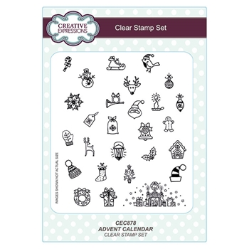 Creative Expressions ADVENT CALENDAR Clear Stamps cec878