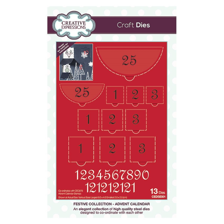 Creative Expressions ADVENT CALENDAR Festive Collection Die Set cedse001 zoom image