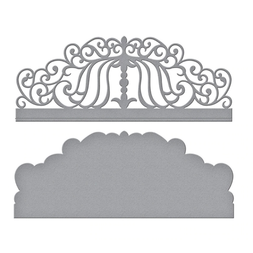 S3-382 Spellbinders CANDLEWICK COLONNADE BORDER Etched Dies Preview Image