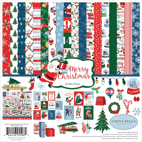 Carta Bella MERRY CHRISTMAS 12 x 12 Collection Kit cbmc107016 Preview Image
