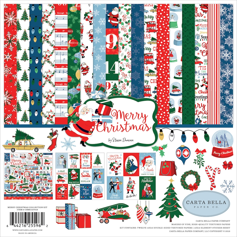 Carta Bella MERRY CHRISTMAS 12 x 12 Collection Kit cbmc107016 zoom image