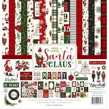 Echo Park HERE COMES SANTA CLAUS 12 x 12 Collection Kit hcsc188016