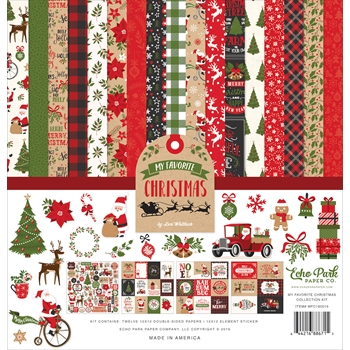 Echo Park MY FAVORITE CHRISTMAS 12 x 12 Collection Kit mfc190016