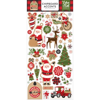 Echo Park MY FAVORITE CHRISTMAS Chipboard Accents mfc190021