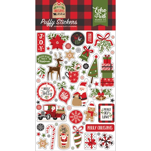 Echo Park MY FAVORITE CHRISTMAS Puffy Stickers mfc190066 Preview Image