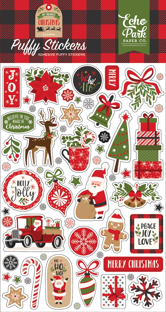 Echo Park MY FAVORITE CHRISTMAS Puffy Stickers mfc190066 zoom image