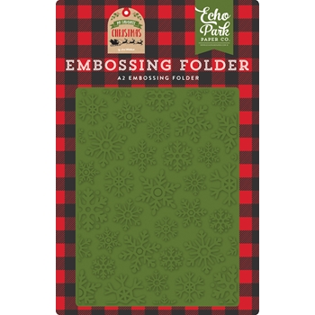 Echo Park CHRISTMAS SNOWFALL Embossing Folder mfc190032