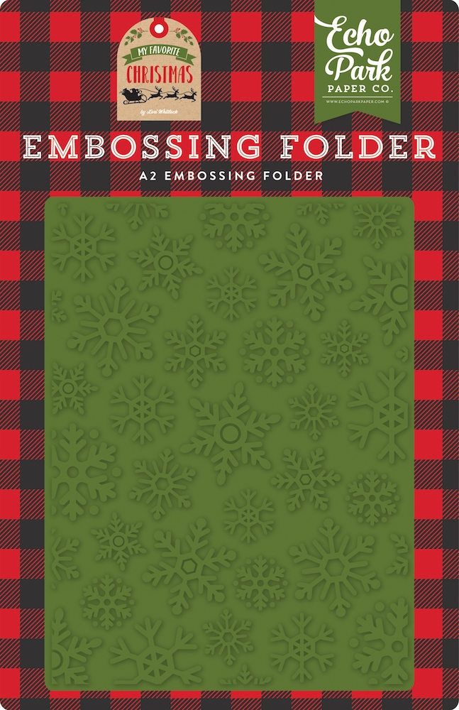 Echo Park CHRISTMAS SNOWFALL Embossing Folder mfc190032 zoom image