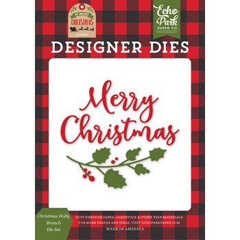 Echo Park CHRISTMAS HOLLY BRANCH Die Set mfc190040