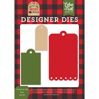 Echo Park CHRISTMAS GIFT TAGS Die Set mfc190042