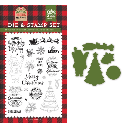 Echo Park BE MERRY Die And Stamp Set mfc190043 Preview Image
