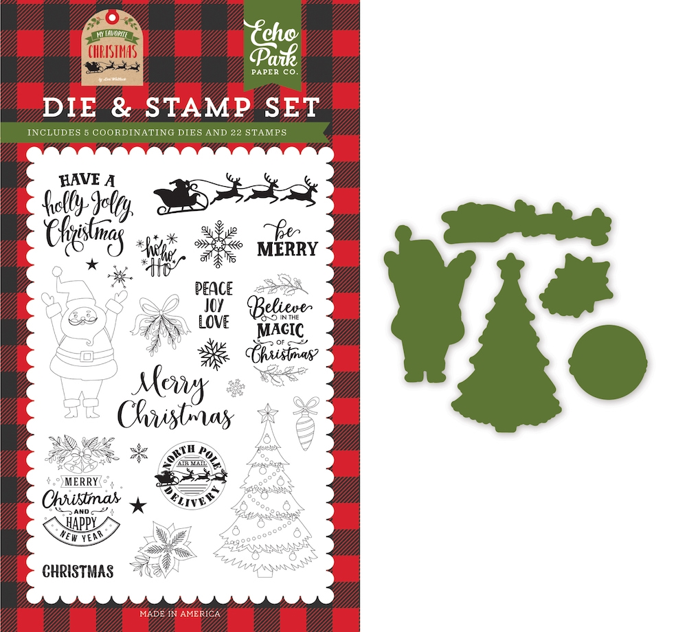 Echo Park BE MERRY Die And Stamp Set mfc190043 zoom image