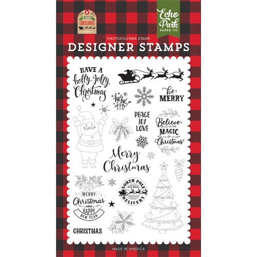 Echo Park BE MERRY Clear Stamps mfc190044 Preview Image