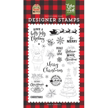 Echo Park BE MERRY Clear Stamps mfc190044