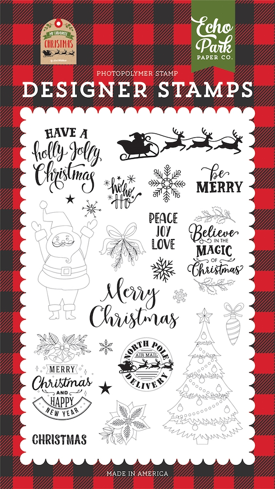 Echo Park BE MERRY Clear Stamps mfc190044 zoom image