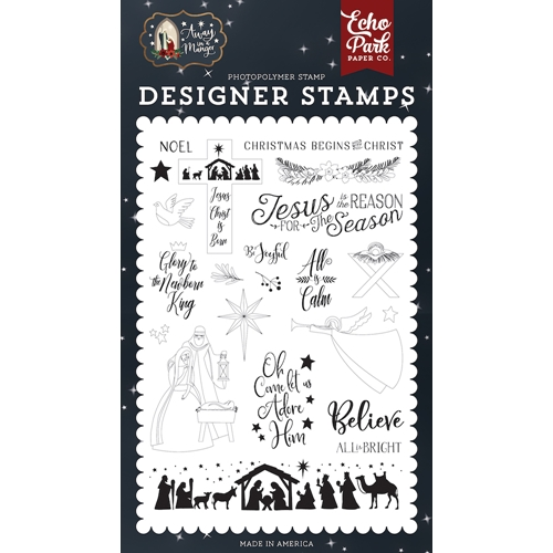 Echo Park ALL IS CALM Clear Stamps aim191046 Preview Image