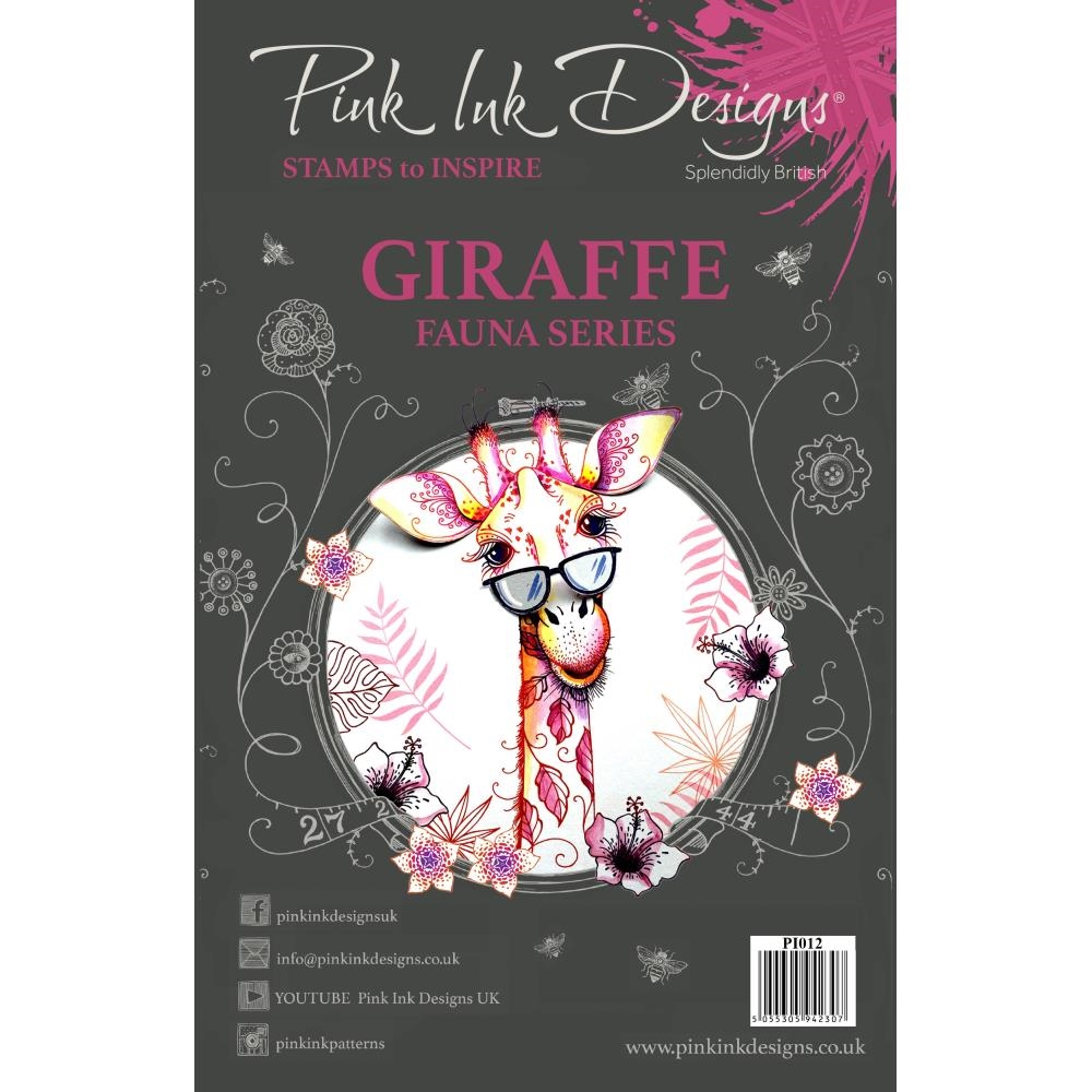 Pink Ink Designs GIRAFFE A5 Clear Stamps pi012 zoom image