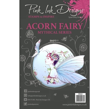 Pink Ink Designs ACORN FAIRY A5 Clear Stamps pi010