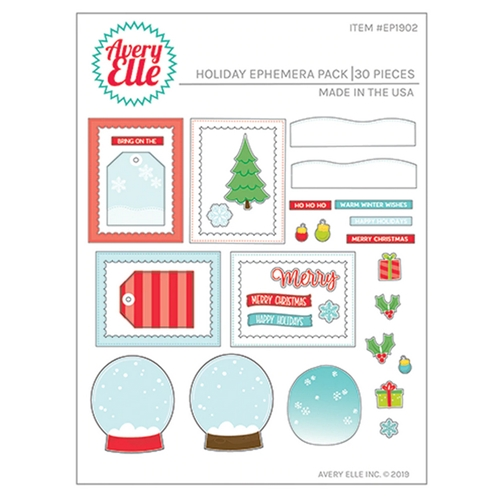 Avery Elle HOLIDAY EPHEMERA PACK EP1902 Preview Image