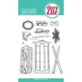 Avery Elle Clear Stamps ALPINE CHRISTMAS ST-19-27