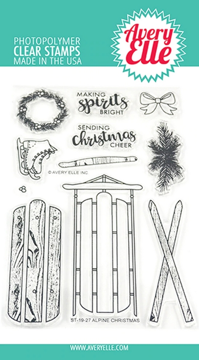 Avery Elle Clear Stamps ALPINE CHRISTMAS ST-19-27 zoom image