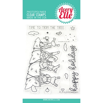 Avery Elle Clear Stamps CHRISTMAS KIDS ST-19-36