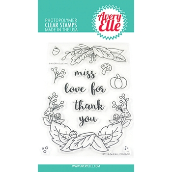Avery Elle Clear Stamps FALL FOLIAGE ST-19-34