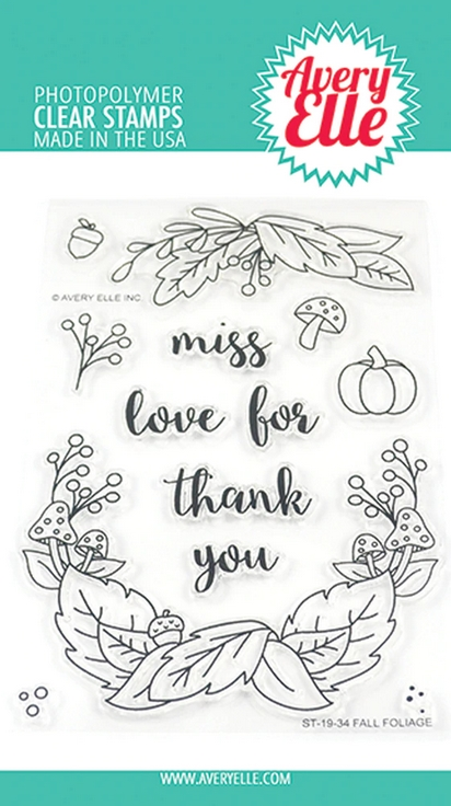 Avery Elle Clear Stamps FALL FOLIAGE ST-19-34 zoom image