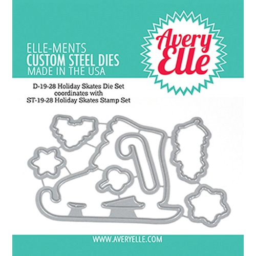 Avery Elle Steel Dies HOLIDAY SKATES D-19-28 Preview Image