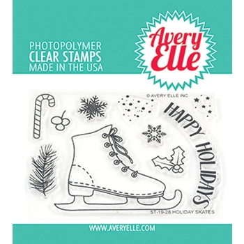 Avery Elle Clear Stamps HOLIDAY SKATES ST-19-28