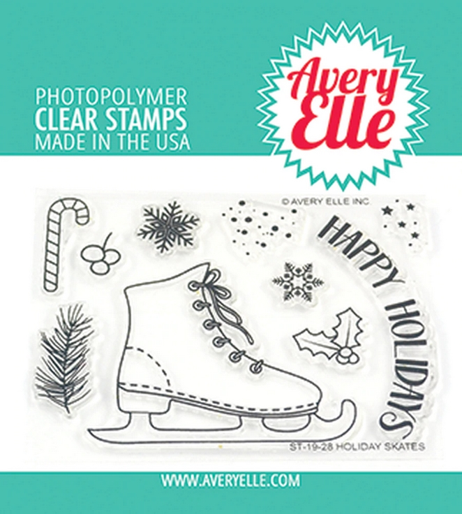 Avery Elle Clear Stamps HOLIDAY SKATES ST-19-28 zoom image