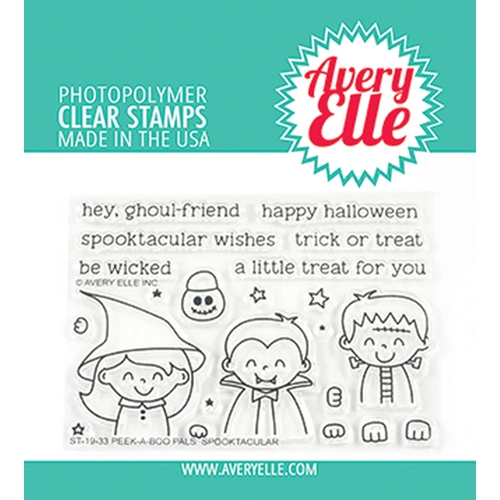 Avery Elle Clear Stamps PEEK A BOO PALS SPOOKTACULAR ST-19-33* Preview Image