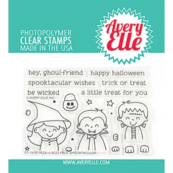 Avery Elle Clear Stamps PEEK A BOO PALS SPOOKTACULAR ST-19-33