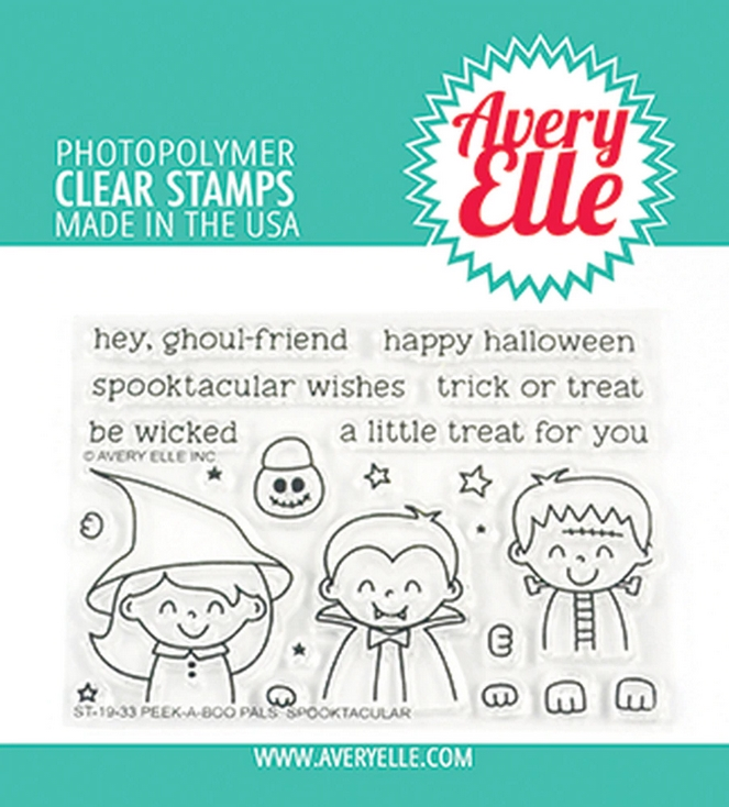 Avery Elle Clear Stamps PEEK A BOO PALS SPOOKTACULAR ST-19-33* zoom image