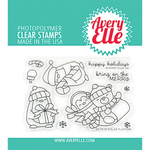 Avery Elle Clear Stamps POLAR PLAYTIME ST-19-32 Preview Image