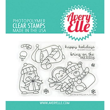 Avery Elle Clear Stamps POLAR PLAYTIME ST-19-32