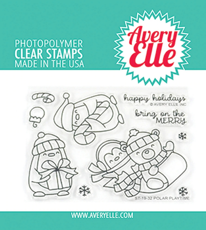 Avery Elle Clear Stamps POLAR PLAYTIME ST-19-32 zoom image