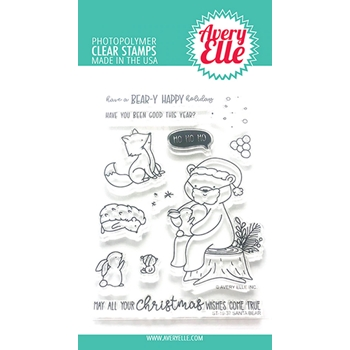 Avery Elle Clear Stamps SANTA BEAR ST-19-37
