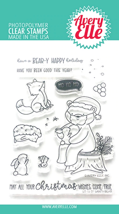Avery Elle Clear Stamps SANTA BEAR ST-19-37 zoom image