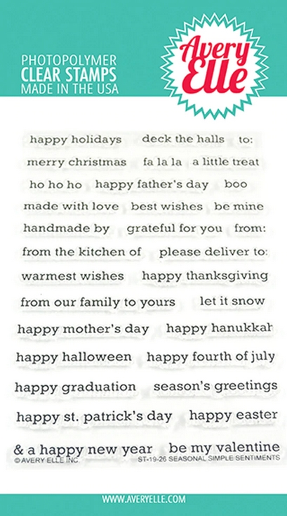 Avery Elle Clear Stamps SEASONAL SIMPLE SENTIMENTS ST-19-26 zoom image