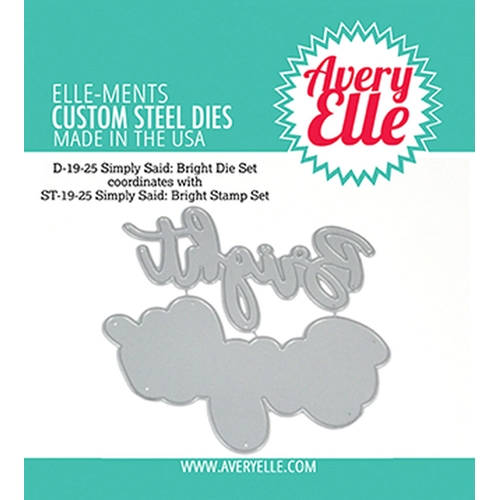 Avery Elle Steel Dies SIMPLY SAID BRIGHT D-19-25* Preview Image