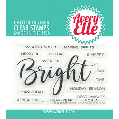 Avery Elle Clear Stamps SIMPLY SAID BRIGHT ST-19-25 Preview Image