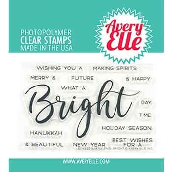 Avery Elle Clear Stamps SIMPLY SAID BRIGHT ST-19-25