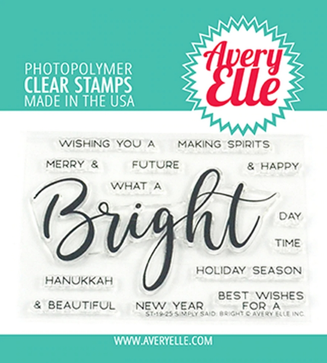 Avery Elle Clear Stamps SIMPLY SAID BRIGHT ST-19-25 zoom image